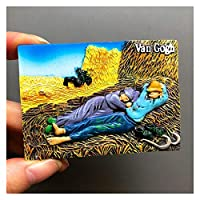 冷蔵庫用マグネット 漫画樹脂冷蔵庫ペースト冷蔵庫マグネット磁気ペーストクリエイティブ3D冷蔵庫室装飾コレクションギフト (Color : Siesta)