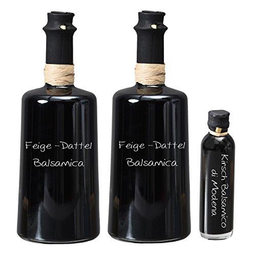 Wajos Feige-Dattel Crema Balsamica NUR SANFTE 3 % Säure! 2 x 0,25l I Sparset GRATIS dazu Oliv & Co. Kirsch Balsamico di Modena 40ml