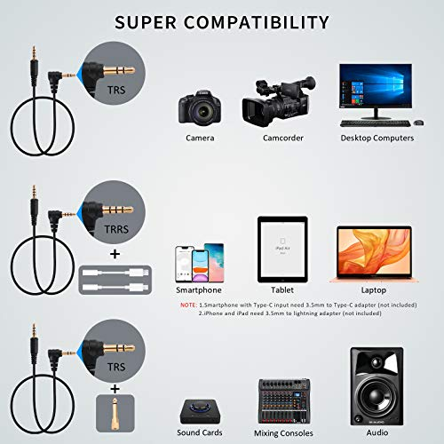 Pixel UHF Wireless Lavalier Microphone System, Clip-on Omnidirectional Lapel Mic with 1 Transmitter and 2 Receiver Compatible with Smartphone, DSLR Camera, Laptop,Tablet Interview,Video
