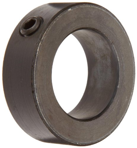 Climax Metal C-100-BO Shaft Collar, One Piece, Set Screw Style, Black Oxide Plating, Steel, 1