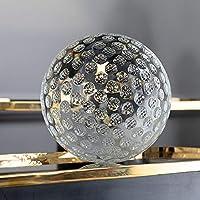 レンズボール写真水晶玉 クリアK9クリスタルガラスゴルフレンズボールディスプレイ置物クリエイティブクリスマスギフトホームオフィスの装飾60 80 100mmグローブ 装飾的な水晶玉 (Size : 60mm ball with bag)