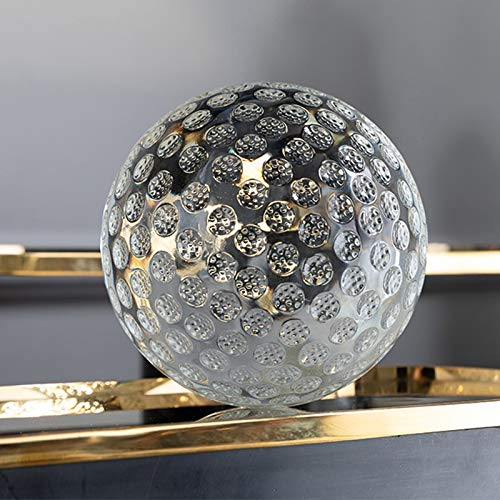 Xu Yuan Jia-Shop Kristallkugel Klare K9 Kristallglas Golf Linse Ball Display Figur mit Tasche Kreative Home Büro Dekoration 60 80 100mm Globus Glücksbringer Dekokugel Kugel