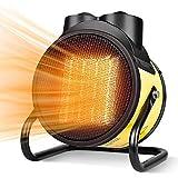 ESGT Calentadores Eléctricos para Exteriores, Calefactor Industrial, Calefactor Cerámico PTC Ajustable, Calefactor Comercial con Ahorro De Energía, para Interiores Al Aire Libre 3000W