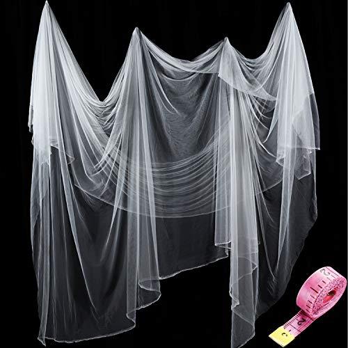 Zonon Rete Zanzariera di Insetti e Mosquito e Uccelli Caccia a Cieca Reticolato di Giardino di Protezione di Piante (3 m x 10 m, Bianco)