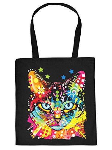 Mega coole Tragetasche für Katzenbesitzer Stofftasche Blue Eyes Katze Cat Geschenkidee Geschenk Baumwolltasche Katzenfreunde
