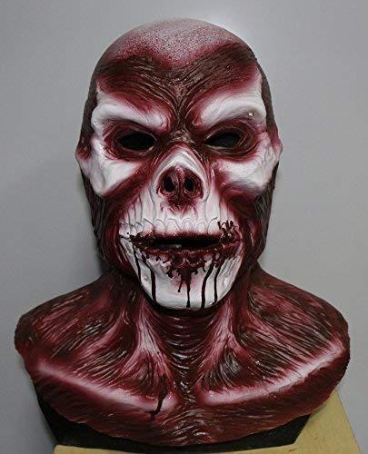 The Rubber Plantation TM 619219294133 Deluxe Autopsy Skinned Alive Masque de zombie en latex pour Halloween, accessoire de déguisement, unisexe, taille unique