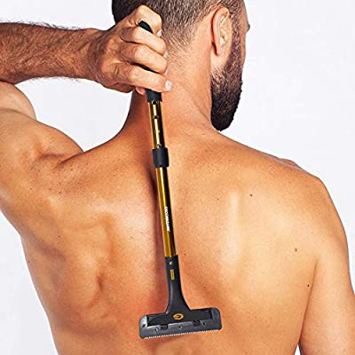 Groomarang Back-In-It Back and Body Hair Removal Device Multi Functioning & Extendable Mens Shave or Hair Removal Cream Tool