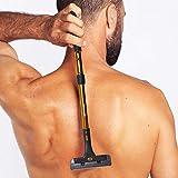 Groomarang Back-In-It - Dispositivo per depilazione di schiena e corpo, dispositivo multi-funzionale allungabile, per rasatura uomo o depilazione con crema