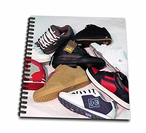 3dRose db_2870_1 Skateboard Shoes Drawing Book, 8 by 8-Inch