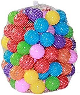 Kaptin 5.5cm 100PCS Soft Plastic Kids Play Ball,Ocean Ball,Colorful Ball Fun Ball Kids Ball Swim Pit Toy Ball Tent Toddler Ball Play Balls for Indoor & Outdoor (Mix Colour-100P)