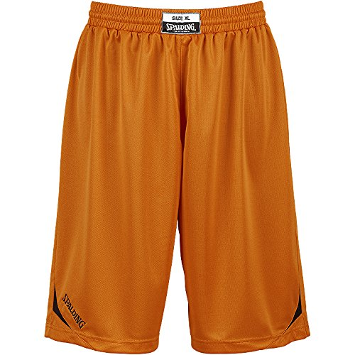 Spalding Herren Attack Shorts Small orange/schwarz