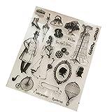 JAGENIE Stempel, transparent, aus Silikon, zum Basteln, Album, Karte, Dekoration, t1202 -