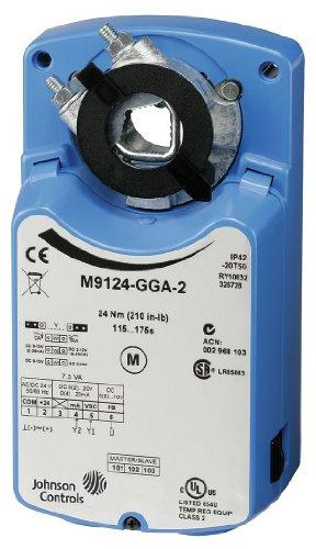 Johnson Controls M9124-GGA-2 Electric Actuator, 210 in-lb. Running Torque, -4 to 122 Degree F
