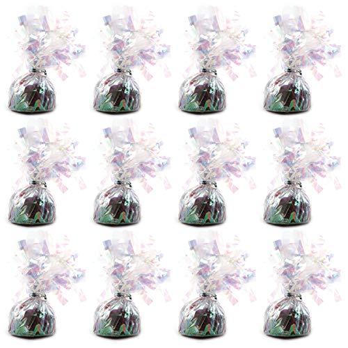 Gewichte für Heliumballons, 12 Stück, für Hochzeit, Geburtstag, Jahrestag, Party, Dekoration Schillernd