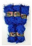 5confezioni da 100g Alize con frange e effetto glitter, blu No. 141? 500g di peluche con frange gomitolo di lana