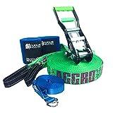 Slackline Industries Aggro Line Slackline Kit, 100'