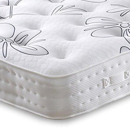 Cheap Beds Direct Kensington Matelas 1500 ressorts ensachés en latex moyenne/ferme pour lit simple 90 cm