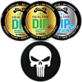 TeaZa Herbal Energy Pouch Peppermint, Wintergreen, Cool Mint 3 Can Variety Pack with DC Crafts Nation Skin Can Cover - Punisher