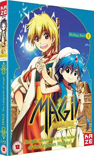 Magi The Labyrinth of Magic-Season 1 Part 1 Blu-Ray [Edizione: Regno Unito] [Import]