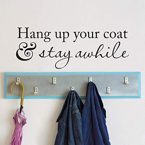 yaonuli Hang je jas een tijdje op. Wandapplique kapstok entree decoratie foyer muursticker voor woonkamer vinyl kunst muurschildering