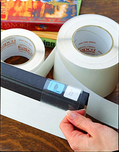 KAPCO - LP009 Kapco Film Labels, 1-1/2 x 3-1/4 Inches, Clear, 500 Pack - 70342