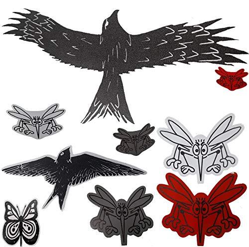 FlyEx Magnete anstatt Aufkleber Sticker für Fliegengitter Insektenschutz Reparatur-Set Vogelschlag Netze Türen Fenster Schiebetüren Spannrahmen (Greifvogel)
