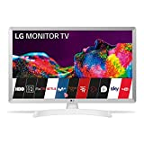 LG 28TN515S-WZ - Monitor Smart TV da 70 cm (28') con schermo LED HD (1366 x 768, 16:9, DVB-T2/C/S2, WiFi, 5 ms, 250 CD/m2, 5 M:1, Miracast, 10 W, 1 HDMI 1.3, 1 x USB 2.0) Colore: bianco.