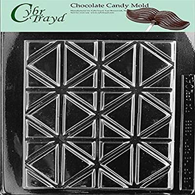 Cybrtrayd Life of the Party AO061 Break Apart Bar Chocolate Candy Mold in Sealed Protective Poly Bag Imprinted with Copyrighted Cybrtrayd Molding Instructions