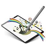 Selvim Penna per Tablet Universale e iPad con Pennio Sottile in Materiale Fibra,Penna Touch con USB per Tutti Smartphone e Tablet,Penna con Guanto da Artista.