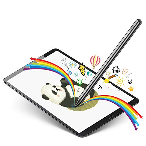 Selvim Penna per Tablet Universale e iPad con Pennio Sottile in Materiale Fibra, Penna Touch con USB per Tutti Smartphone e Tablet, Penna con Guanto da Artista