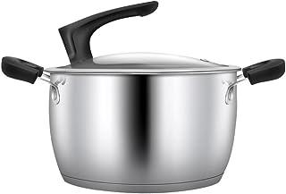 WJF Sopa de cacerola Cazuela de cacerola Utensilios de cocina Sopa de acero inoxidable Sopa de marihuana Sopa Sopa Sopa Olla Multiuso olla de cocina 20CM Regalo del día de la madre