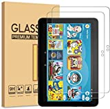 [2 pack] DIEBI Screen Protector for All-New Fire HD 8 / Fire HD8 Plus/Kids Edition (10th Generation) 2020 Released, 9H Hardness/Tempered Glass