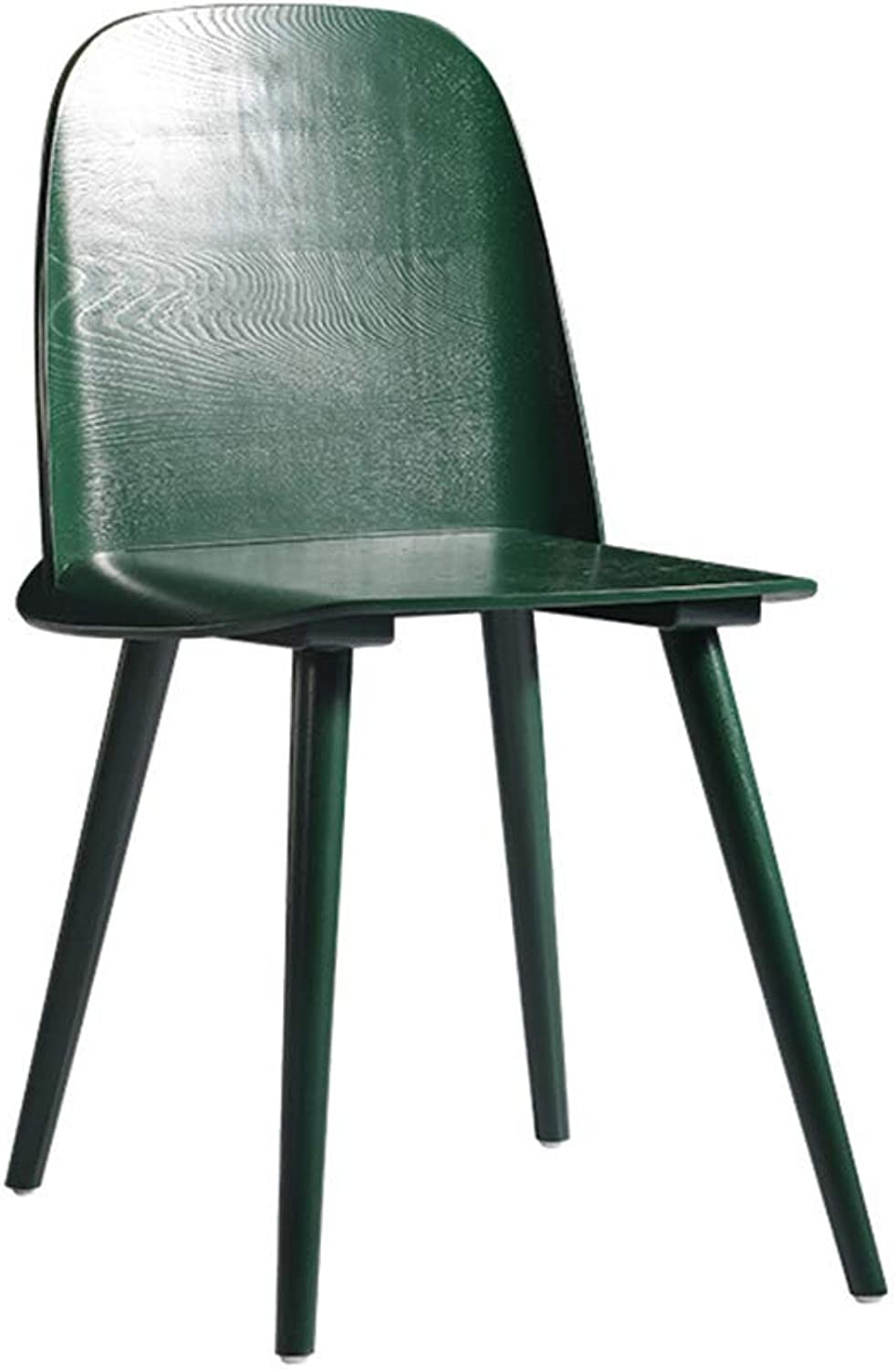 Home Bar Stool Chair Solid Wood Bar Stool Chair Dining Chair Modern Minimalist Casual Fashion Creative Restaurant Backrest Chair Home Bar Furniture (color   Green)