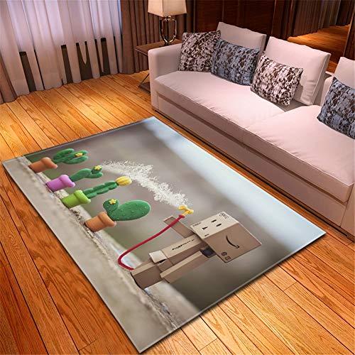 Hinnin Tappeto Camera Soggiorno Salotto Moderno Antiscivolo Elastico di Alta qualità Durevole Mini Cactus in Casa e Cucina Bagno Corridoio Balcone rugs-100x150cm
