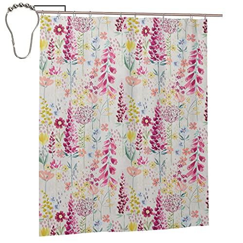 pengyong John Lewis&Partners Flora Shower Curtain for Bathroom, Waterproof Durable Shower Curtain 60x72 Inches