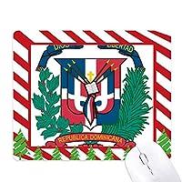 ドミニカの共和国の国章の国 ゴムクリスマスキャンディマウスパッド