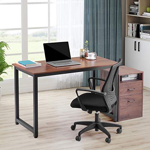 Moiitee Mesa de oficina, 120 x 60 x 75 cm, mesa de ordenador resistente, 1 – 2 cm, pies ajustables, escritorio de oficina, escritorio para casa, sala de estar, oficina