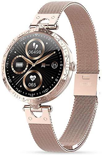 SHIJIAN Exquisito reloj inteligente para mujer, 1.1 pulgadas HD full touch impermeable fitness tracker, con ritmo cardíaco recordatorio fisiológico femenino pulsera deportiva de moda - A