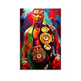 Póster de boxeo de Mike Tyson, cuadro decorativo, lienzo de pared, para sala de estar, dormitorio, 60 x 90 cm