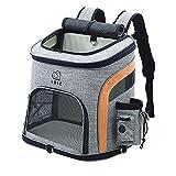 OMEM Rucksack für Haustier Outdoor Hunde rucksäcke für Haustier verstellbare Rucksack für Kleine Hunde und Katzen (L, orange)