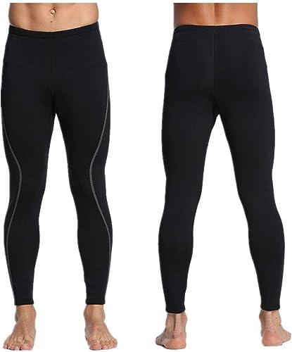 Owenyang Combinaison Homme Full 3mm Pantalon de néoprène en néoprène pour Hommes pour Le Surf, la plongée avec Tuba et la plongée sous-Marine Combinaison Thermique de Plongée (Taille   XL)