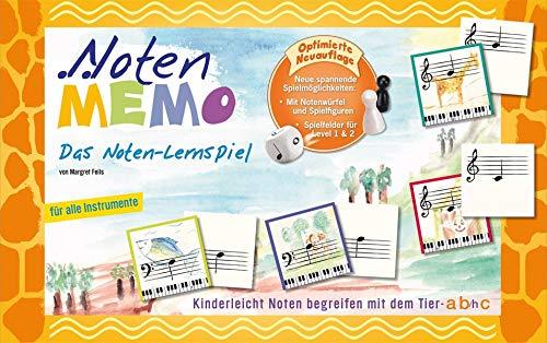 Noten MEMO - EIN Noten-Lernspiel: Kinderleicht Noten begreifen mit dem Tier-ABC