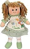 Betz Muñeca de Trapo para niños Camilla tamaño Aprox. 30cm Color Verde...