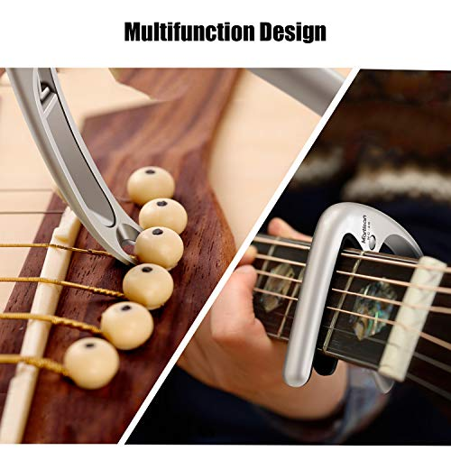 MARTISAN Cejillas Guitarra Capo para Guitarra Eléctrica, Acústica y Clásica Ukelele Bajo