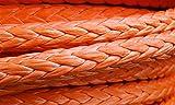 Cabrestantes de remolque de cuerda de cabrestante 18 mm x 50 metros de cuerda de cabrestante sintético naranja cuerda de remolque para ATV / UTV / 4x4 / Off Road Accesorios Cuerdas de remolque