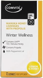 Pacific Resources International Manuka Honey Lozenges with Propolis UMF 10+, Soothing Lemon & Honey, 20 Lozenges