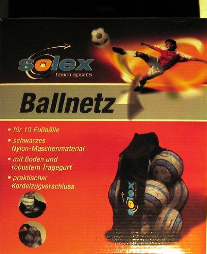 Solex Sports Ballsack Für 10 Bälle, schwarz, 38 x 22.5 x 22.5 cm, 45920