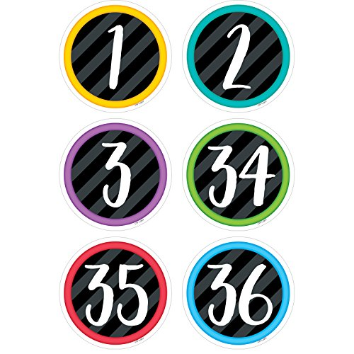 Creative Teaching Bold & Bright Student Numbers 3' Designer Cut Outs (Accent for Calendars, Bulletin Boards and Classrooms)