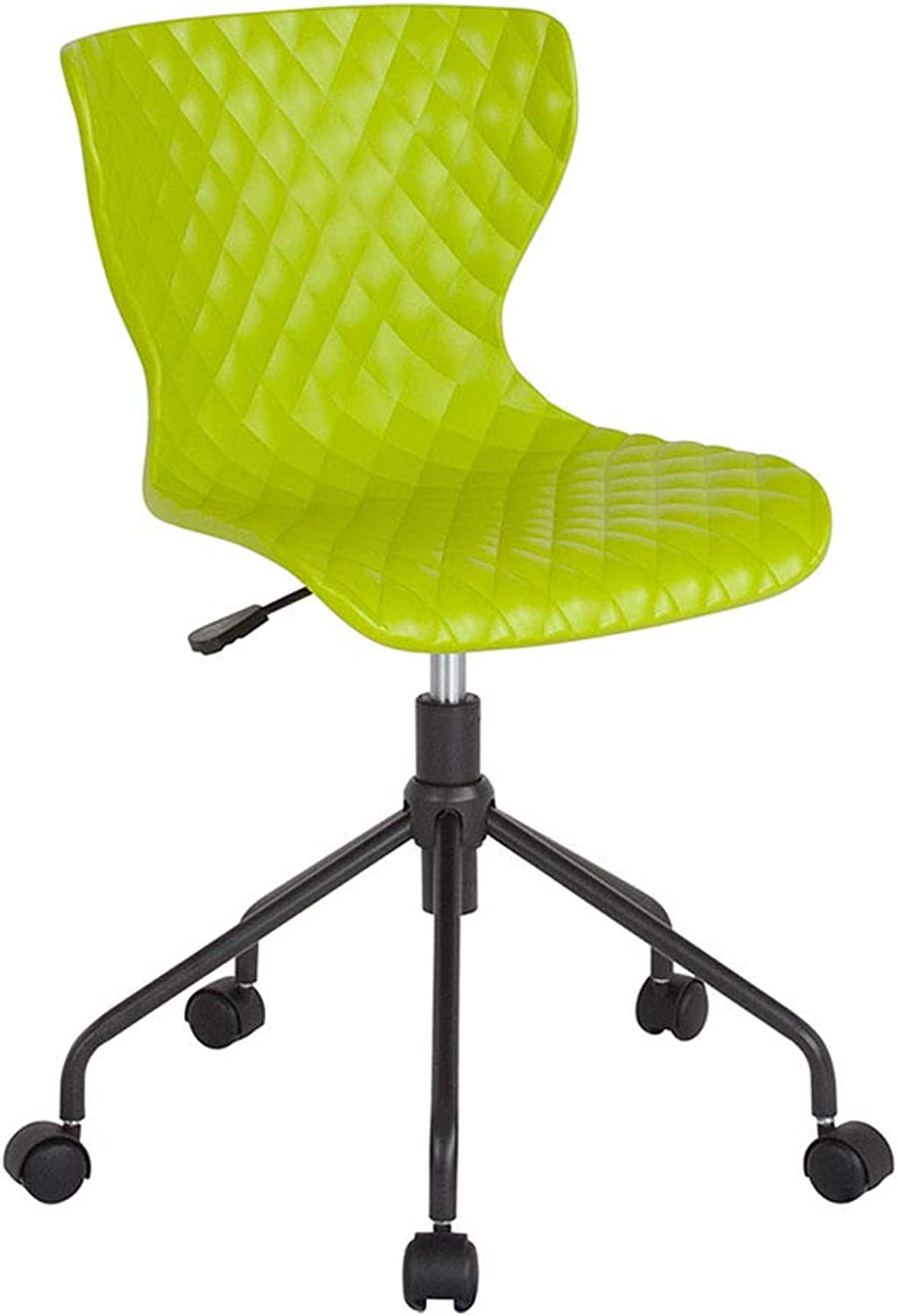 Offex Home Office Contemporary Design Curved Back Plastic Task Chair, Citrus Green