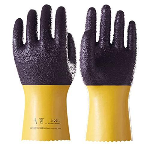 Sportsgloves Nitrilkautschuk mit großem Mund rutschfeste Lederarbeitshandschuhe Schwere Gartenhandschuhe Öl- und ölbeständige Handschuhe Vollleder Alle Schweiß-Industrieoveralls